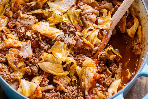 unstuffed cabbage rolls recipe from Onslow Weight Loss and Wellness Jacksonville NC